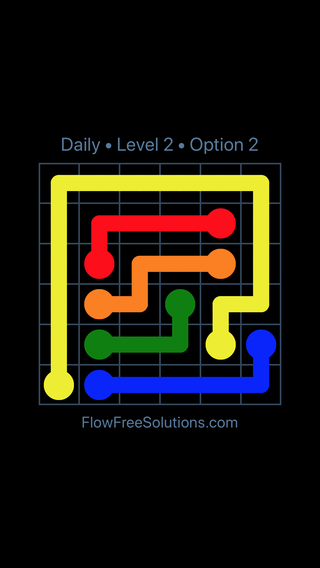 Solution and Answer to the Puzzle for Flow Date Monday, April 11, 2016 Level 2