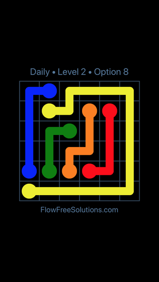 Solution and Answer to the Puzzle for Flow Date Monday, July 4, 2016 Level 2