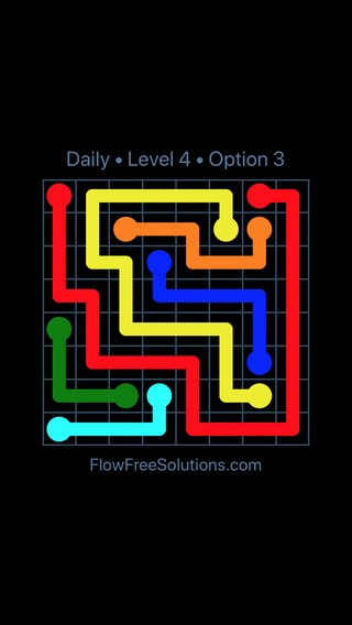 Solution and Answer to the Puzzle for Flow Date Monday, April 11, 2016 Level 4