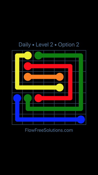 Solution and Answer to the Puzzle for Flow Date Tuesday, April 12, 2016 Level 2