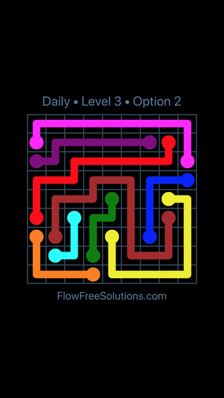 Solution and Answer to the Puzzle for Flow Date Tuesday, July 5, 2016 Level 3