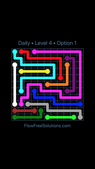 Solution and Answer to the Puzzle for Flow Date Tuesday, April 12, 2016 Level 4