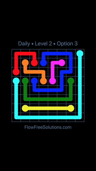 Solution and Answer to the Puzzle for Flow Date Wednesday, April 13, 2016 Level 2
