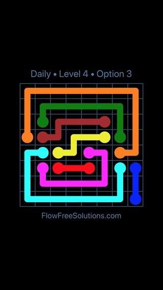 Solution and Answer to the Puzzle for Flow Date Wednesday, July 6, 2016 Level 4