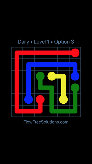 Solution and Answer to the Puzzle for Flow Date Thursday, April 14, 2016 Level 1