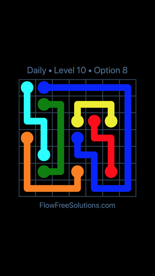 Solution and Answer to the Puzzle for Flow Date Thursday, February 15, 2018 Level 10