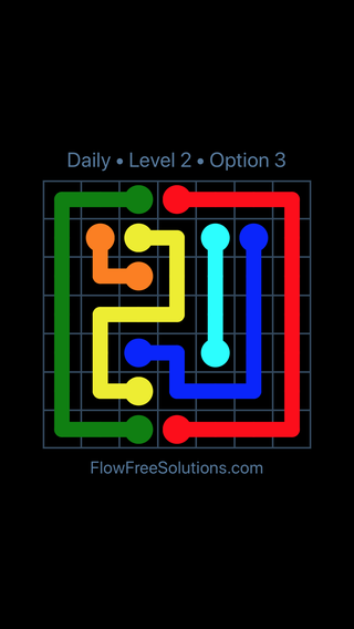 Solution and Answer to the Puzzle for Flow Date Thursday, February 15, 2018 Level 2