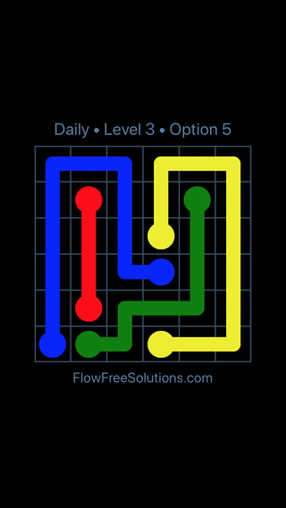 Solution and Answer to the Puzzle for Flow Date Thursday, February 15, 2018 Level 3