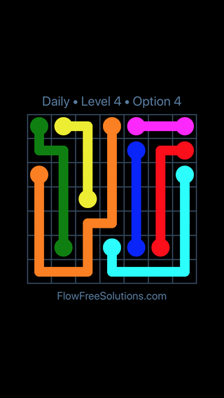 Solution and Answer to the Puzzle for Flow Date Thursday, April 14, 2016 Level 4