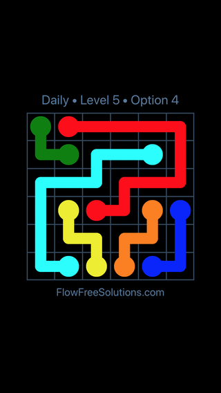 Solution and Answer to the Puzzle for Flow Date Thursday, February 15, 2018 Level 5