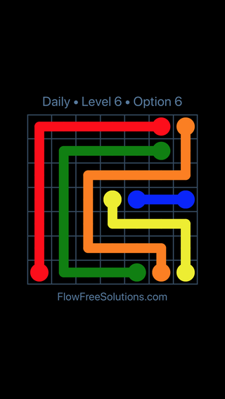 Solution and Answer to the Puzzle for Flow Date Thursday, February 15, 2018 Level 6
