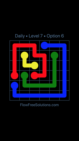Solution and Answer to the Puzzle for Flow Date Thursday, July 7, 2016 Level 7