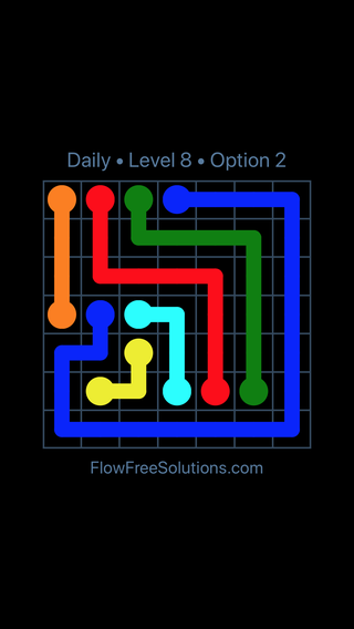 Solution and Answer to the Puzzle for Flow Date Thursday, April 14, 2016 Level 8