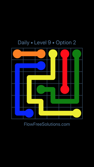 Solution and Answer to the Puzzle for Flow Date Thursday, April 14, 2016 Level 9