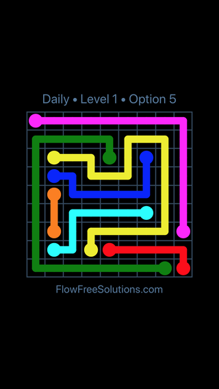 Solution and Answer to the Puzzle for Flow Date Thursday, June 2, 2016 Level 1