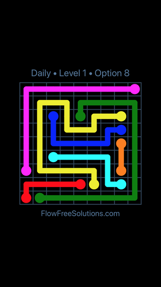 Solution and Answer to the Puzzle for Flow Date Thursday, October 15, 2020 Level 1