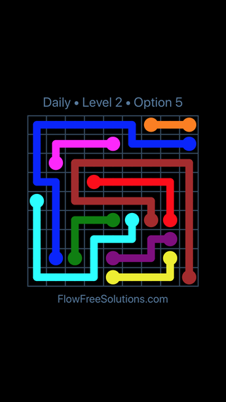 Solution and Answer to the Puzzle for Flow Date Thursday, January 11, 2018 Level 2
