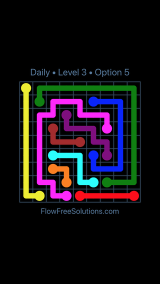 Solution and Answer to the Puzzle for Flow Date Thursday, March 10, 2016 Level 3