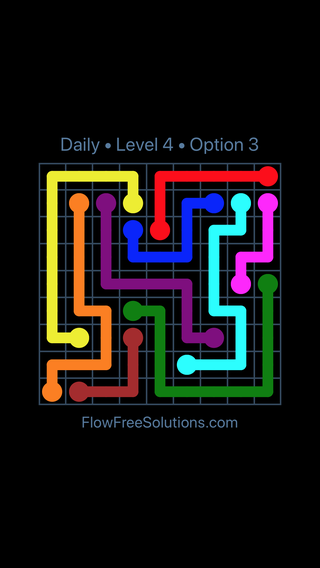 Solution and Answer to the Puzzle for Flow Date Thursday, June 2, 2016 Level 4