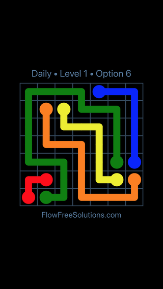 Solution and Answer to the Puzzle for Flow Date Friday, July 8, 2016 Level 1
