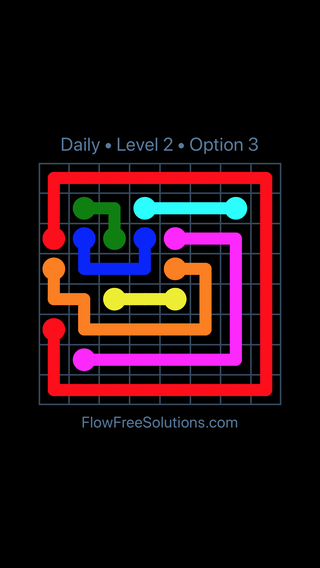 Solution and Answer to the Puzzle for Flow Date Friday, July 8, 2016 Level 2
