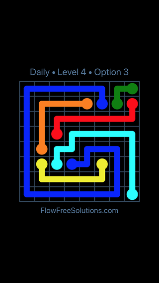 Solution and Answer to the Puzzle for Flow Date Friday, July 8, 2016 Level 4