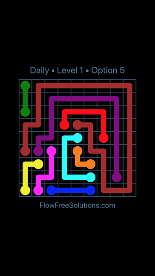 Solution and Answer to the Puzzle for Flow Date Sunday, May 13, 2018 Level 1