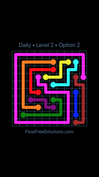 Solution and Answer to the Puzzle for Flow Date Sunday, April 17, 2016 Level 2