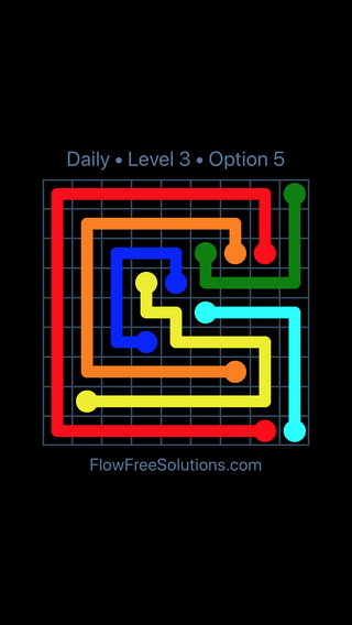 Solution and Answer to the Puzzle for Flow Date Sunday, July 10, 2016 Level 3