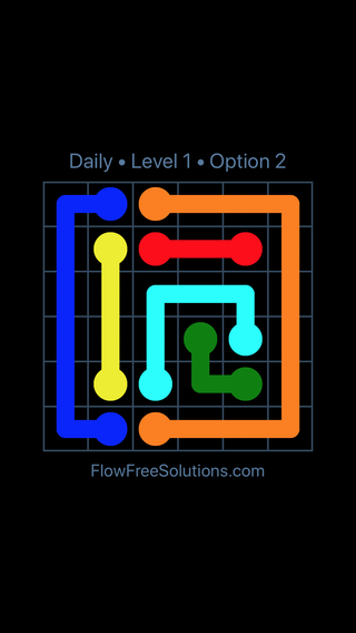 Solution and Answer to the Puzzle for Flow Date Monday, July 11, 2016 Level 1