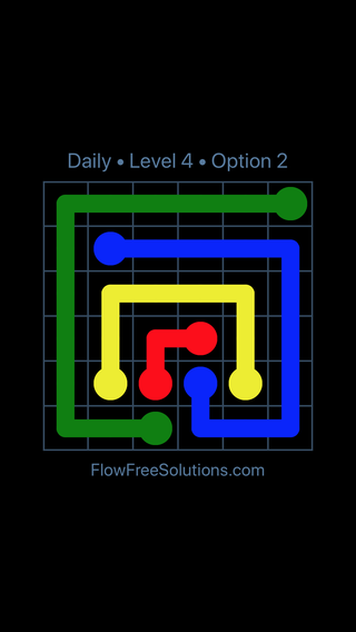 Solution and Answer to the Puzzle for Flow Date Monday, July 11, 2016 Level 4