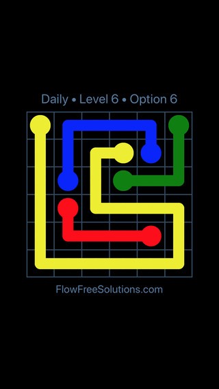 Solution and Answer to the Puzzle for Flow Date Monday, July 11, 2016 Level 6