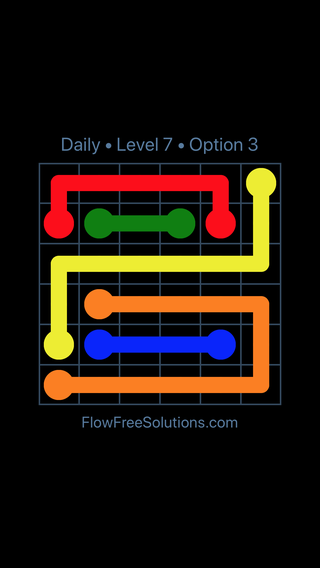 Solution and Answer to the Puzzle for Flow Date Monday, April 18, 2016 Level 7
