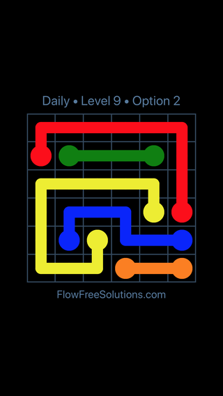 Solution and Answer to the Puzzle for Flow Date Monday, July 11, 2016 Level 9