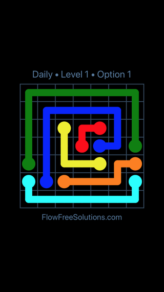 Solution and Answer to the Puzzle for Flow Date Tuesday, April 19, 2016 Level 1