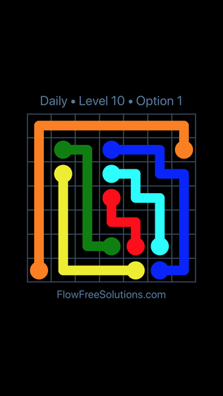Solution and Answer to the Puzzle for Flow Date Tuesday, April 19, 2016 Level 10