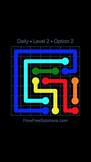 Solution and Answer to the Puzzle for Flow Date Tuesday, April 19, 2016 Level 2
