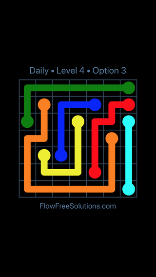 Solution and Answer to the Puzzle for Flow Date Tuesday, July 12, 2016 Level 4