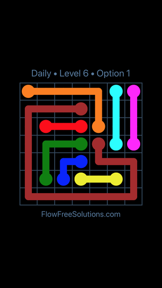 Solution and Answer to the Puzzle for Flow Date Tuesday, April 19, 2016 Level 6