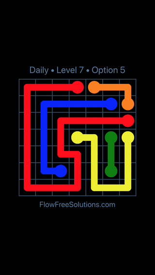 Solution and Answer to the Puzzle for Flow Date Tuesday, April 19, 2016 Level 7