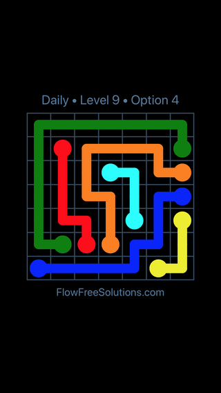 Solution and Answer to the Puzzle for Flow Date Tuesday, April 19, 2016 Level 9