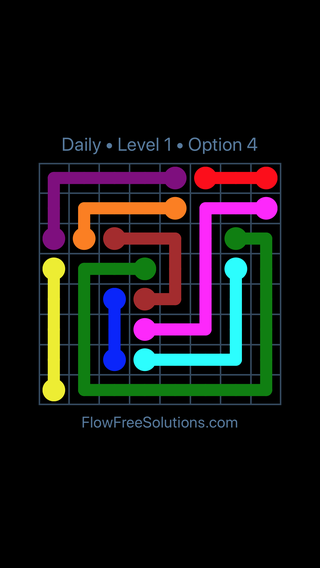 Solution and Answer to the Puzzle for Flow Date Wednesday, July 13, 2016 Level 1