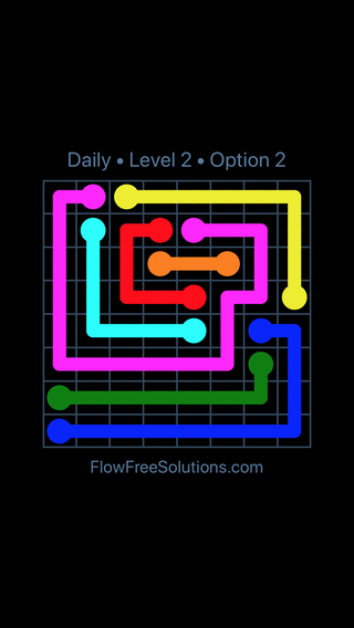 Solution and Answer to the Puzzle for Flow Date Wednesday, April 20, 2016 Level 2