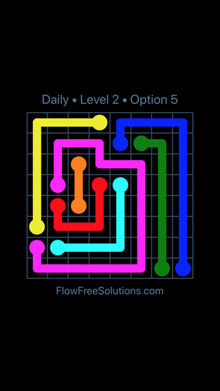 Solution and Answer to the Puzzle for Flow Date Wednesday, July 13, 2016 Level 2