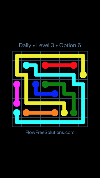 Solution and Answer to the Puzzle for Flow Date Wednesday, July 13, 2016 Level 3