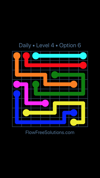 Solution and Answer to the Puzzle for Flow Date Wednesday, July 13, 2016 Level 4