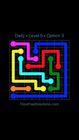 Solution and Answer to the Puzzle for Flow Date Wednesday, July 13, 2016 Level 5