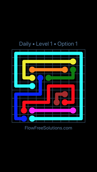 Solution and Answer to the Puzzle for Flow Date Thursday, July 14, 2016 Level 1