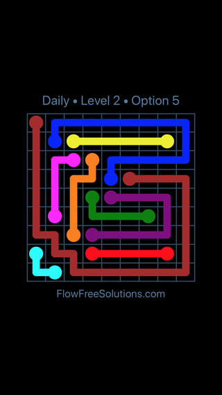 Solution and Answer to the Puzzle for Flow Date Thursday, May 17, 2018 Level 2
