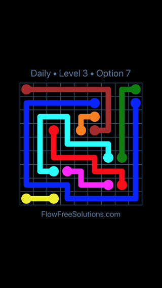 Solution and Answer to the Puzzle for Flow Date Thursday, April 21, 2016 Level 3